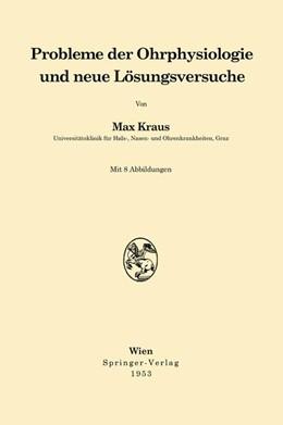 Abbildung von Kraus | Probleme der Ohrphysiologie und neue Lösungsversuche | 1953
