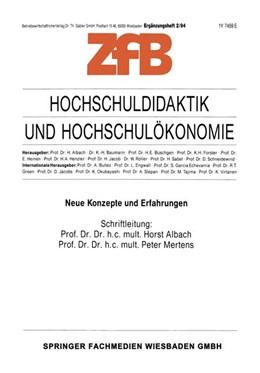 Abbildung von Mertens | Hochschuldidaktik und Hochschulökonomie | 1. Auflage | 1994 | beck-shop.de