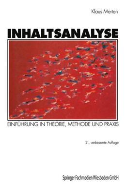Abbildung von Merten | Inhaltsanalyse | 2. Aufl. 1983 | 1995 | Einführung in Theorie, Methode...