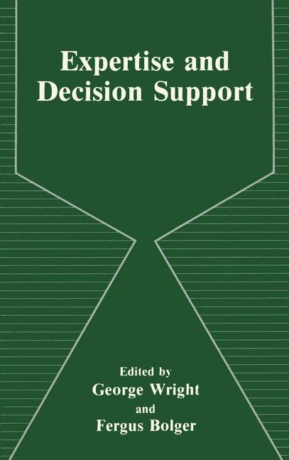 Abbildung von Bolger / Wright | Expertise and Decision Support | 2013