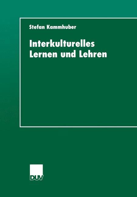 Interkulturelles Lernen und Lehren   Kammhuber, 2000   Buch (Cover)