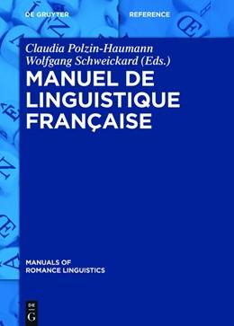 Abbildung von Polzin-Haumann / Schweickard   Manuel de linguistique française   2015   8