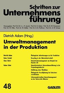 Abbildung von Adam | Umweltmanagement in der Produktion | 1993 | 1993