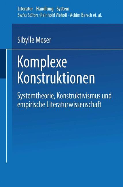 Komplexe Konstruktionen   Moser, 2001   Buch (Cover)