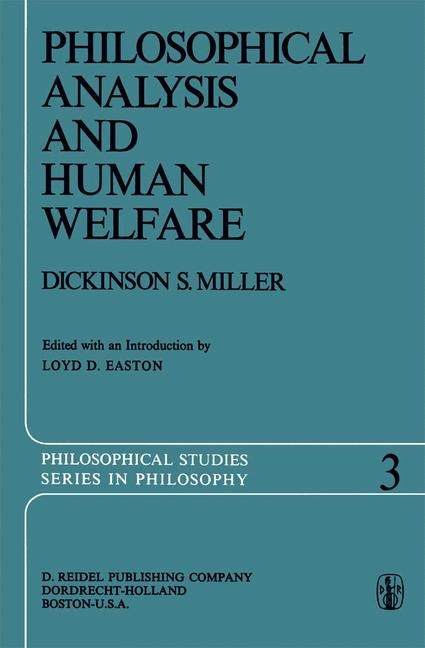 Philosophical Analysis and Human Welfare | Easton / Miller, 2011 | Buch (Cover)