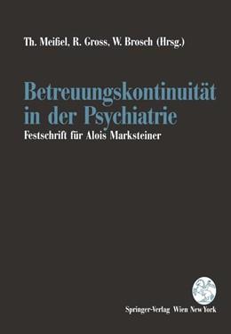 Abbildung von Meißel / Gross / Brosch | Betreuungskontinuität in der Psychiatrie | 1994