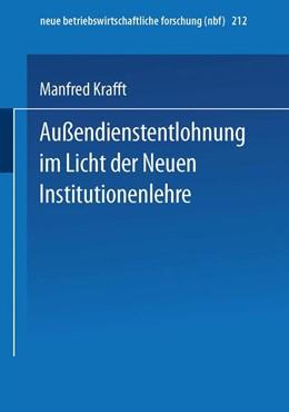 Abbildung von Krafft | Außendienstentlohnung im Licht der Neuen Institutionenlehre | 1995 | 1995 | 212