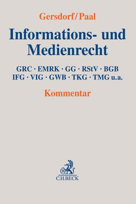 Informations- und Medienrecht | Gersdorf / Paal | Buch (Cover)