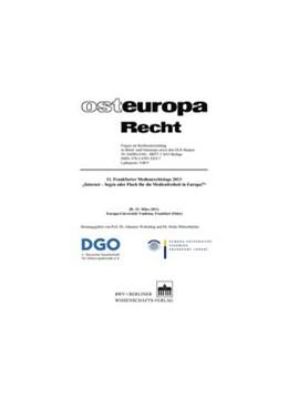 Abbildung von Weberling / Dörrenbächer | 11. Frankfurter Medienrechtstage 2013