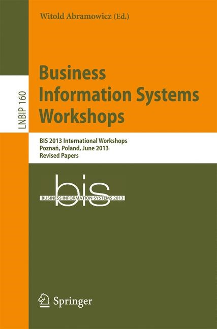 Business Information Systems Workshops | Abramowicz, 2013 | Buch (Cover)
