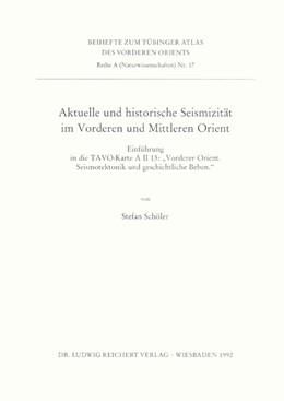 Abbildung von Schöler | Aktuelle und historische Seismizität im Vorderen und Mittleren Orient | 1992 | Einführung in die TAVO-Karte A...