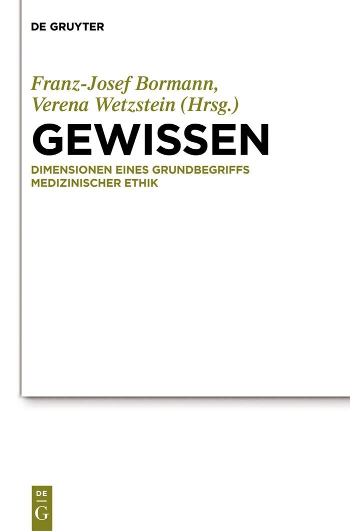 Gewissen | Bormann / Wetzstein, 2019 | Buch (Cover)