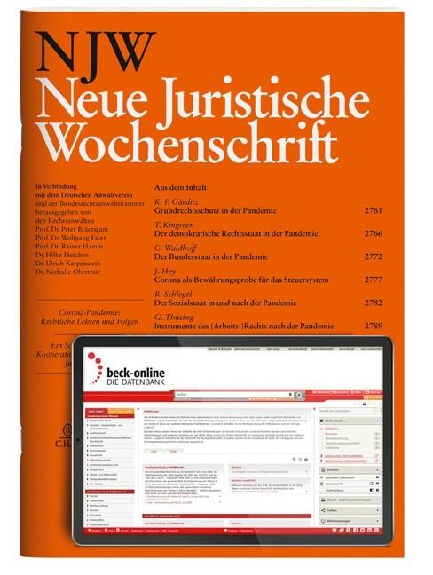 NJW • Neue Juristische Wochenschrift | 71. Jahrgang (Cover)