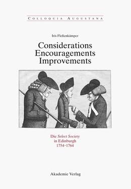 Abbildung von Fleßenkämper | Considerations - Encouragements - Improvements. Die Select Society in Edinburgh 1754-1764 | 1. Auflage | 2011 | Soziale Zusammensetzung und ko...