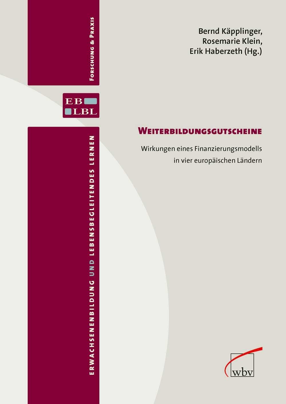 Weiterbildungsgutscheine | Käpplinger / Klein / Haberzeth, 2013 | Buch (Cover)