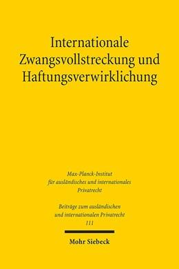Abbildung von Domej   Internationale Zwangsvollstreckung und Haftungsverwirklichung   2016   am Beispiel der Forderungspfän...   111