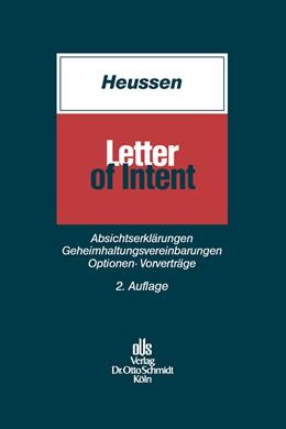 Abbildung von Heussen   Letter of Intent   2. Auflage   2014   beck-shop.de