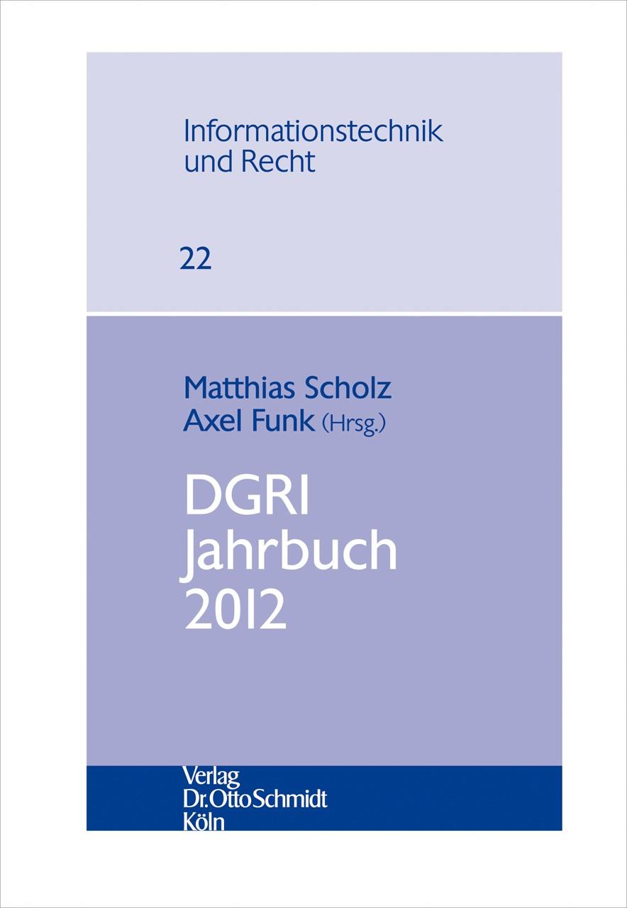 DGRI Jahrbuch 2012 | Scholz / Funk (Hrsg.), 2013 | Buch (Cover)