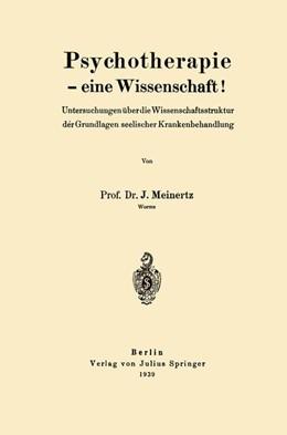 Abbildung von Meinertz | Psychotherapie — eine Wissenschaft! | 1939 | Untersuchungen über die Wissen...