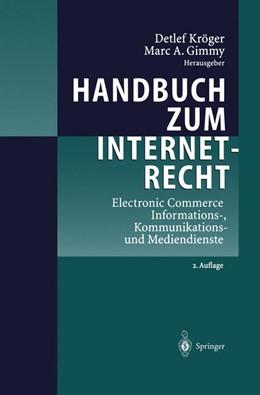 Abbildung von Kröger / Gimmy | Handbuch zum Internetrecht | 2013 | Electronic Commerce - Informat...