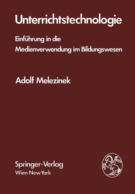 Abbildung von Melezinek | Unterrichtstechnologie | 1982