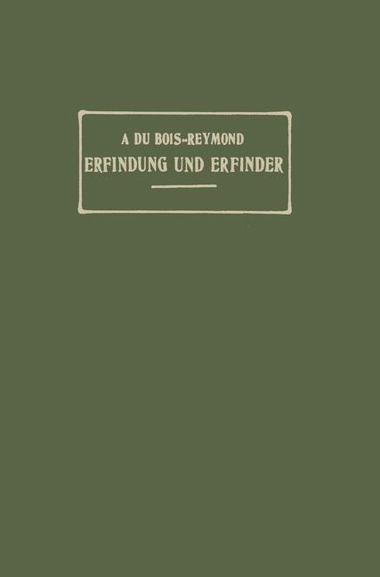 Erfindung und Erfinder | Du Bois-Reymond, 1906 | Buch (Cover)