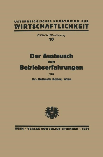 Abbildung von Boller | Der Austausch von Betriebserfahrungen | 1931