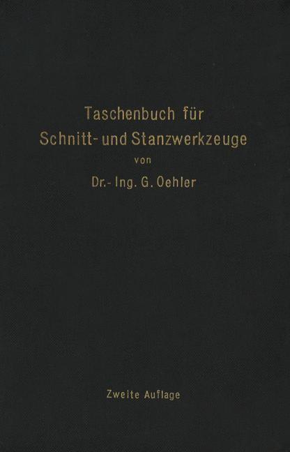 Taschenbuch für Schnitt- und Stanzwerkzeuge | Oehler, 1938 | Buch (Cover)