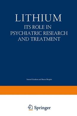Abbildung von Gershon | Lithium | 2012 | Its Role in Psychiatric Resear...