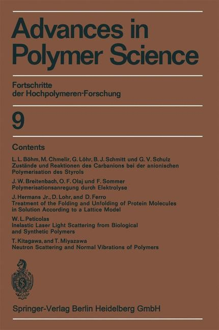 Advances in Polymer Science | Cantow / Dall'Asta / Ferry, 2013 | Buch (Cover)