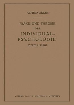 Abbildung von Adler   Praxis und Theorie der Individual-Psychologie   1930   Vorträge zur Einführung in die...