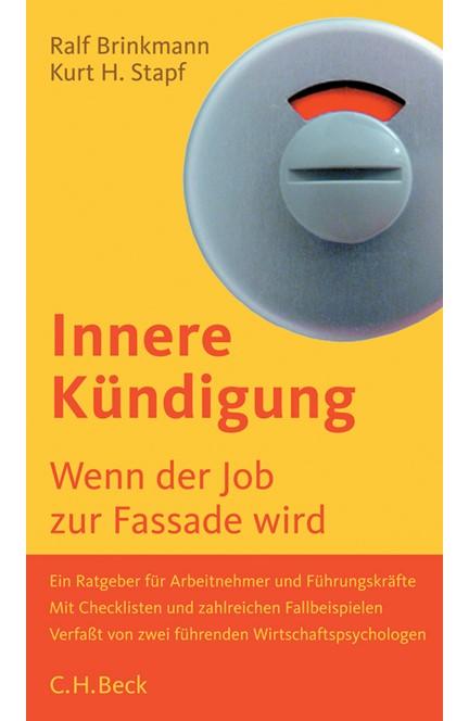 Cover: Kurt H. Stapf|Ralf D. Brinkmann, Innere Kündigung