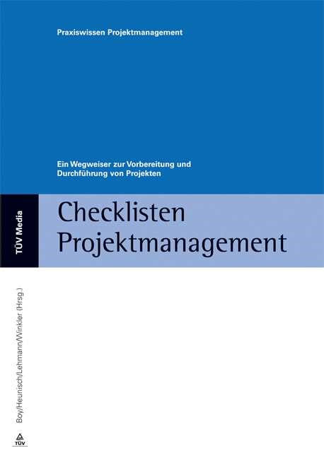 Checklisten Projektmanagement | Boy / Heunisch / Lehmann / Winkler, 2013 (Cover)