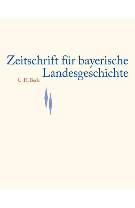 Cover: , Zeitschrift für bayerische Landesgeschichte Band 77 Heft 1/2014
