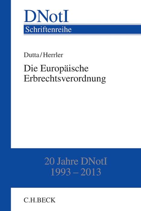 Die Europäische Erbrechtsverordnung | Dutta / Herrler, 2014 | Buch (Cover)