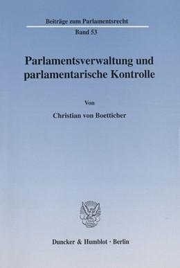 Abbildung von Boetticher | Parlamentsverwaltung und parlamentarische Kontrolle. | 2002 | 53