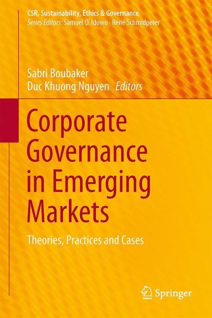Corporate Governance in Emerging Markets | Boubaker / Nguyen, 2014 | Buch (Cover)