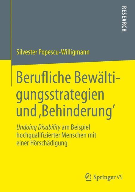 Berufliche Bewältigungsstrategien und 'Behinderung' | Popescu-Willigmann, 2013 | Buch (Cover)
