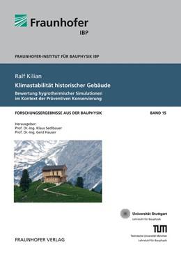 Abbildung von / Sedlbauer / Hauser | Klimastabilität historischer Gebäude. | 2013 | Bewertung hygrothermischer Sim... | 15