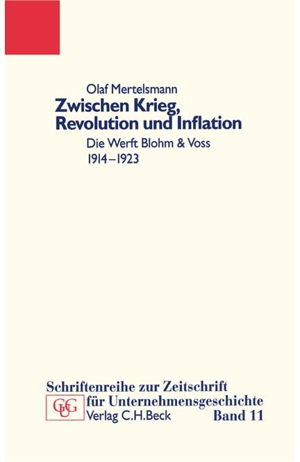 Cover: Olaf Mertelsmann, Zwischen Krieg, Revolution und Inflation