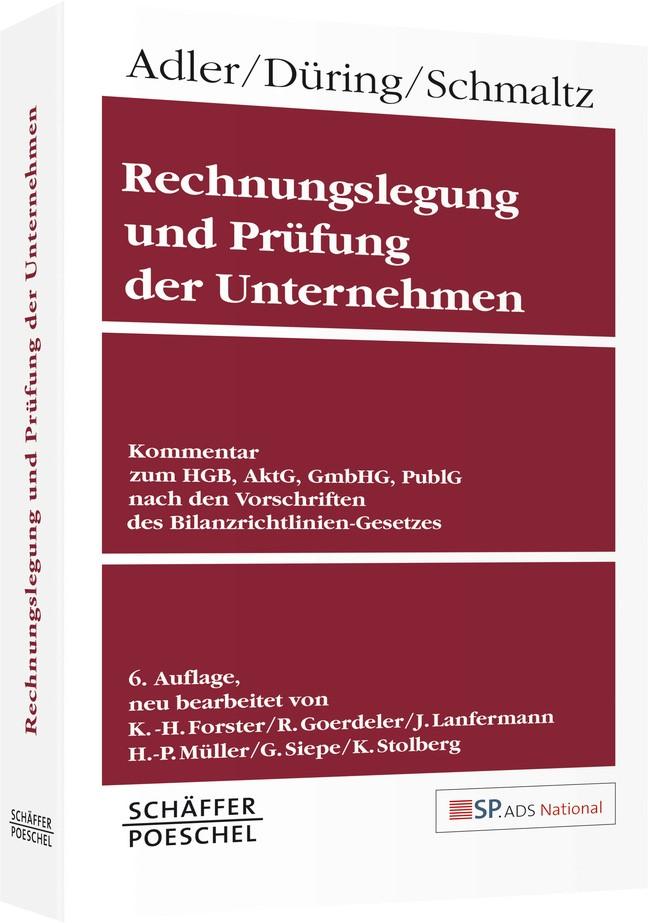 Rechnungslegung und Prüfung der Unternehmen | Adler / Düring / Schmaltz (Cover)