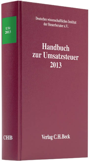 Handbuch zur Umsatzsteuer 2013: USt 2013, 2014 | Buch (Cover)