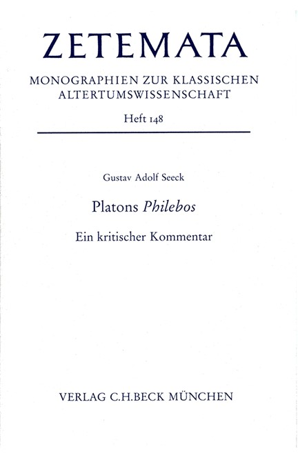 Cover: Gustav Adolf Seeck, Platons Philebos