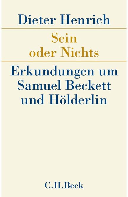 Cover: Dieter Henrich, Sein oder Nichts