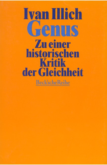 Cover: Ivan Illich, Genus