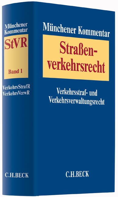 Münchener Kommentar zum Straßenverkehrsrecht: StVR, Band 1: Verkehrsstrafrecht, Verkehrsverwaltungsrecht, 2016 | Buch (Cover)