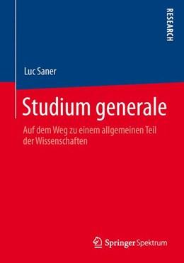 Abbildung von Saner | Studium generale | 2013 | Auf dem Weg zu einem allgemein...
