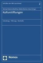 Kulturstiftungen   Nietsch / Weller / Kiesel (Hrsg.), 2019   Buch (Cover)