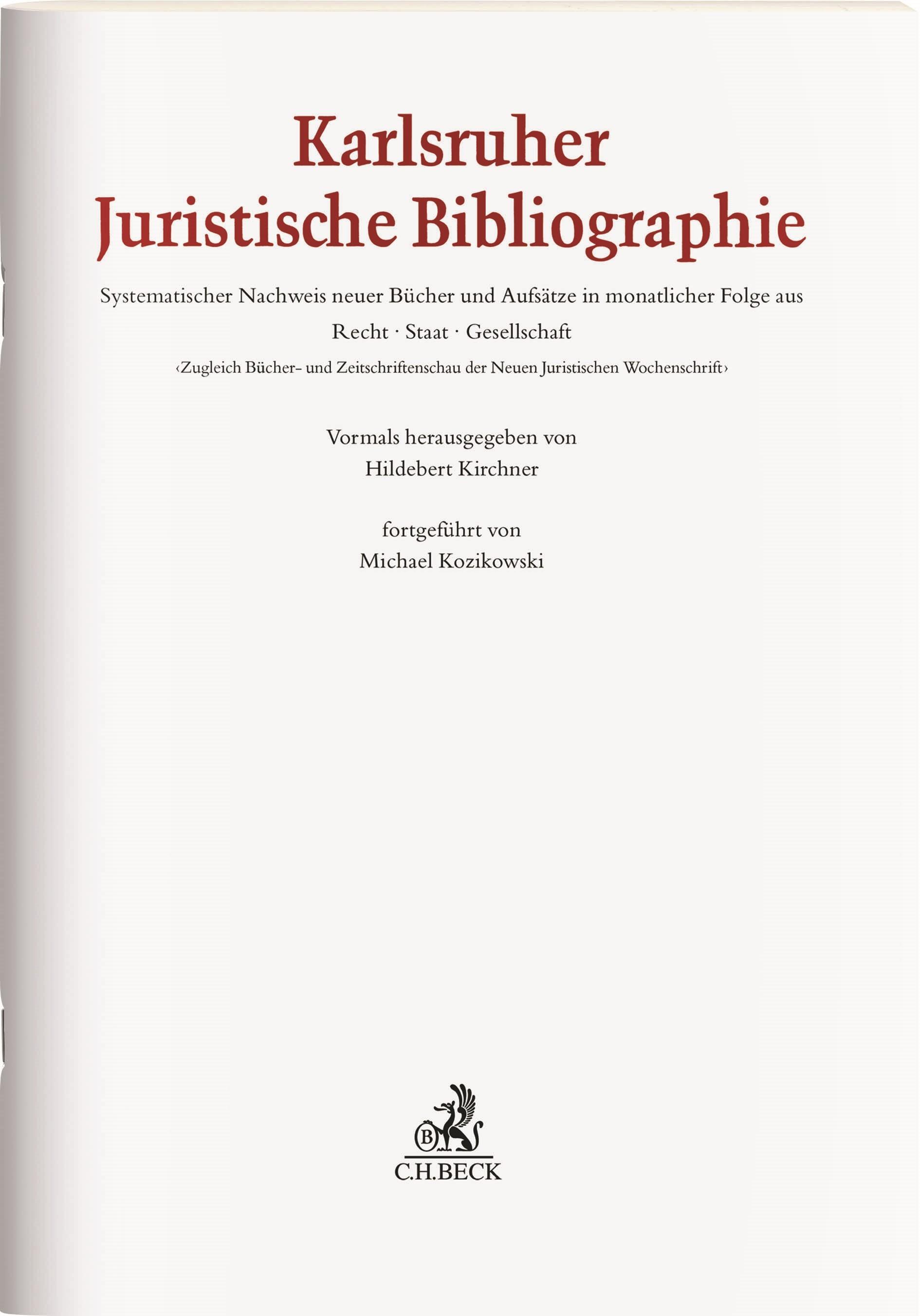 KJB • Karlsruher Juristische Bibliographie (Cover)