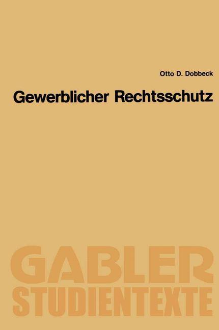 Abbildung von Dobbeck | Gewerblicher Rechtsschutz | 1990 | 1990